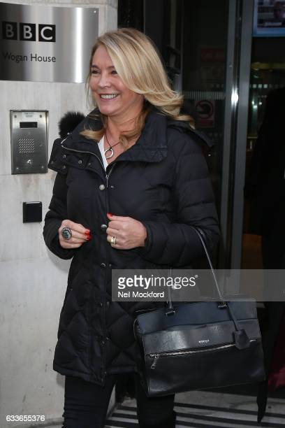Amanda Redman at BBC Radio 2 on February 3 2017 in London England