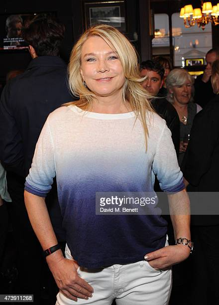 Amanda Redman attends a drinks reception following the VIP performance of 'Sunny Afternoon' at the Tom Cribb pub on May 18 2015 in London England