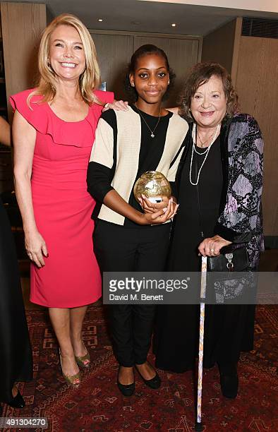 Amanda Redman Madeline Bafaku and Sylvia Syms attend the Voice Of A Woman Awards at the Belgraves Hotel on October 4 2015 in London England