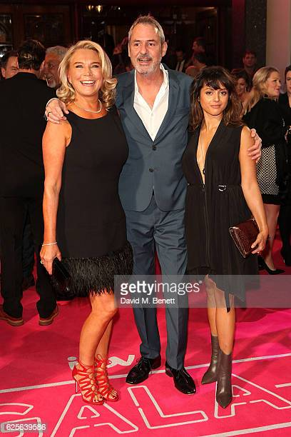 Amanda Redman Neil Morrissey and Amrita Acharia attend the ITV Gala hosted by Jason Manford at London Palladium on November 24 2016 in London England