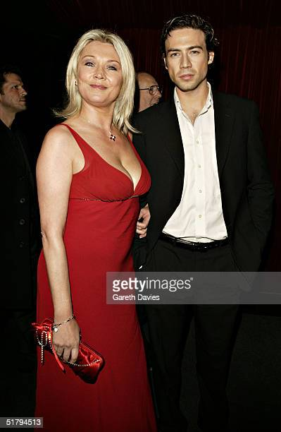 Amanda Redmond and partner attends the aftershow party where Kevin Spacey sung 8 songs from the movie soundtrack following the UK Premiere of Beyond...