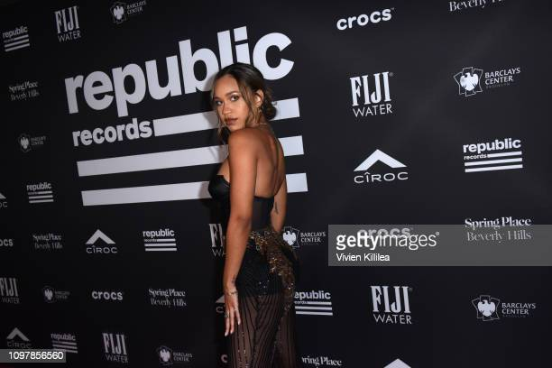 Amanda Reifer at Republic Records Grammy after party at Spring Place Beverly Hills on February 10 2019 in Beverly Hills California