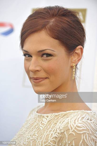 Amanda Rigetti poses for a picture at the 8th Annual BAFTA/LA TV party held at the Hyatt Regency Hotel on August 28 2010 in Los Angeles California