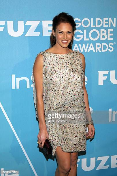 Amanda Righett arrives to the Hollywood Press Association and InStyle First Party of the 2011 Golden Globe Award Season at Cecconi's in West...