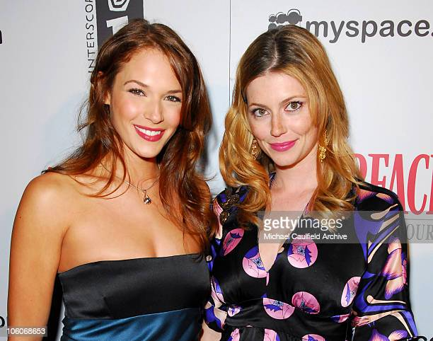 Amanda Righetti and Diora Baird during 'Scarface The World is Yours' E3 Party Red Carpet at Vanguard in Hollywood California United States