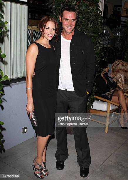 Amanda Righetti and Owain Yeoman arrive at TV GUIDE Magazine's Hot List Party at SLS Hotel on November 10 2009 in Beverly Hills California