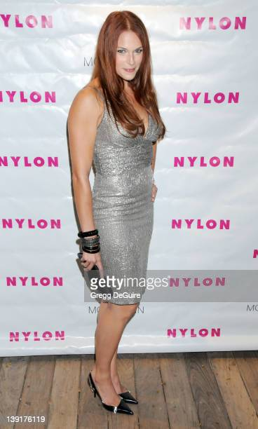 Amanda Righetti arrives as Nylon Magazine Celebrates Their Fall TV Fashion Issue with Cover Girl Anna Paquin at Skybar at Mondrian in West Hollywood...