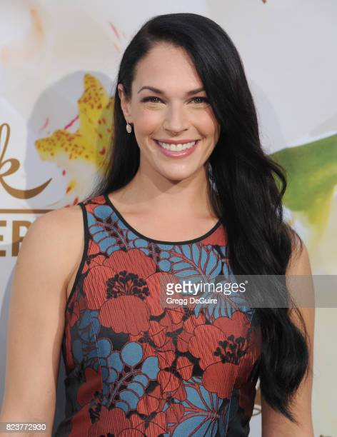 Amanda Righetti arrives at the 2017 Summer TCA Tour Hallmark Channel And Hallmark Movies And Mysteries at a private residence on July 27 2017 in...