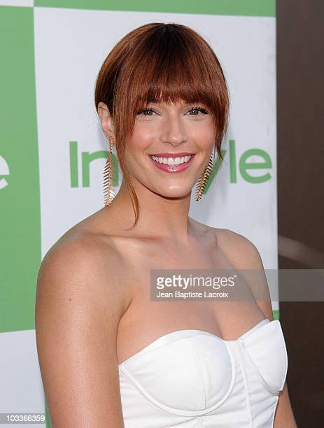 Amanda Righetti arrives at the 9th Annual InStyle Summer Soiree on August 12 2010 in Los Angeles California