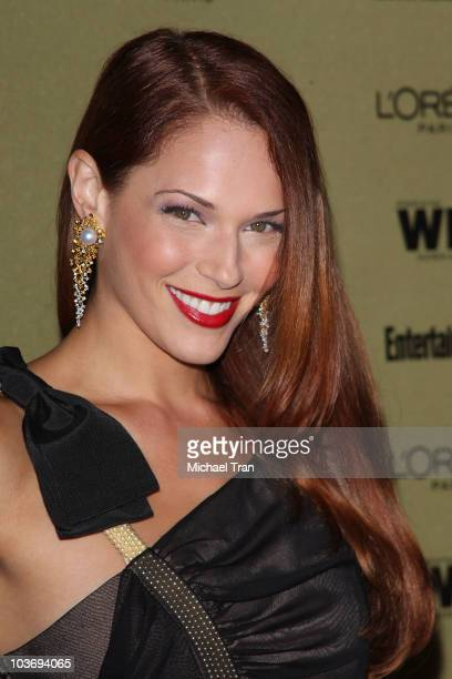 Amanda Righetti arrives at the Entertainment Weekly and Women In Film preEMMY party held at The Sunset Marquis Hotel on August 27 2010 in West...