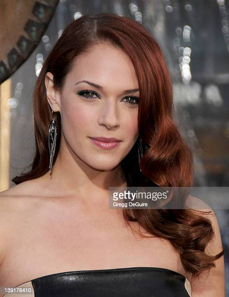 Amanda Righetti arrives at the Los Angeles Premiere of 'Clash Of The Titans' held at the Grauman's Chinese Theater on March 31 2010 in Hollywood...