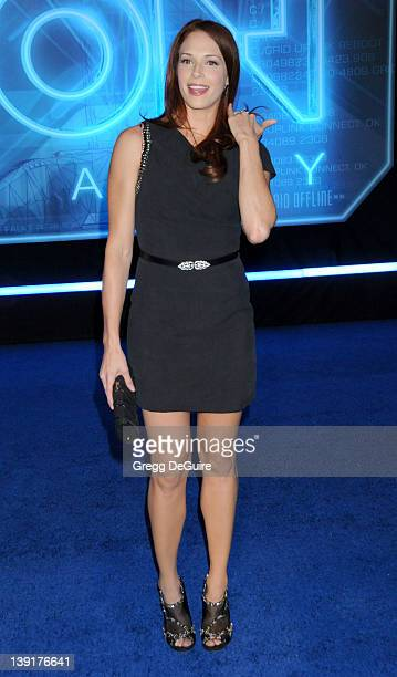 Amanda Righetti arrives at the World Premiere of 'TRON Legacy' at the El Capitan Theatre on December 11 2010 in Hollywood California