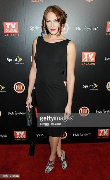 Amanda Righetti arrives at TV Guide Magazine's Hot List Party at SLS Hotel on November 10 2009 in Los Angeles California