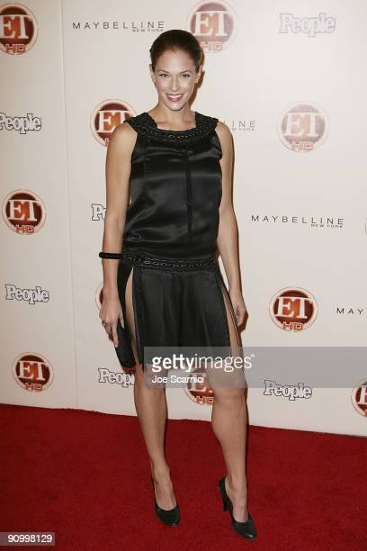 Amanda Righetti arrives at Vibiana for the 13th Annual Entertainment Tonight and People magazine Emmys After Party on September 20, 2009 in Los...