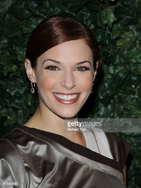Amanda Righetti arrives to the QVC Celebrates Red Carpet Style held at Four Seasons Hotel on March 5 2010 in Beverly Hills California