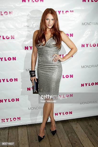 Amanda Righetti attends Nylon Magazine's TV Issue Launch Party at the Skybar on August 24 2009 in West Hollywood California