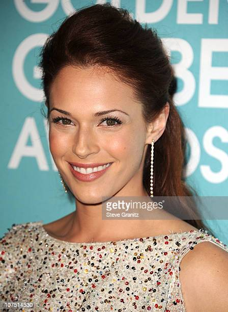 Amanda Righetti attends the 2011 Golden Globe Awards Season And Miss Golden Globe Announcement Party at Cecconi's Restaurant on December 9 2010 in...