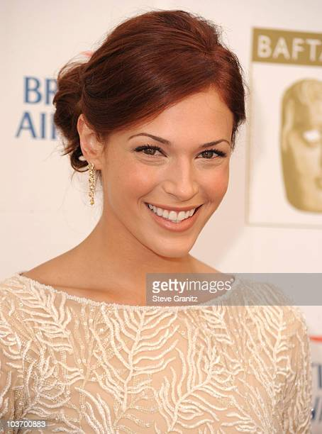 Amanda Righetti attends the 8th Annul BAFTA/LA TV Tea Party at the Hyatt Regency Century Plaza on August 28 2010 in Century City California