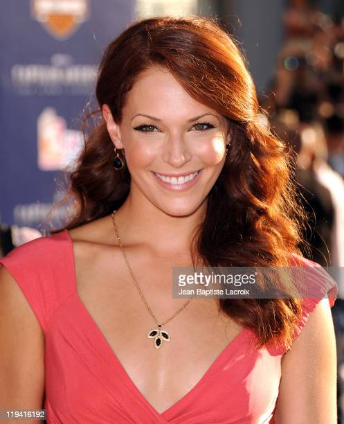 Amanda Righetti attends the 'Captain America The First Avenger' Los Angeles Premiere at the El Capitan Theatre on July 19 2011 in Hollywood California