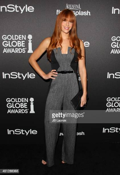 Amanda Righetti attends the Hollywood Foreign Press Association And InStyle 2014 Miss Golden Globe Announcement / Celebration at Fig Olive Melrose...