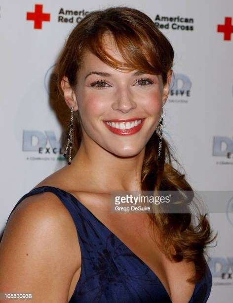 Amanda Righetti during 2005 DVD Exclusive Awards Arrivals at California Science Center in Los Angeles California United States