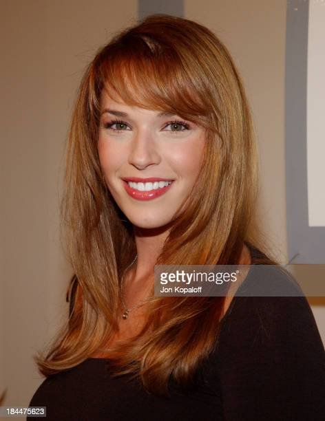 Amanda Righetti during 2005 Fox's 'White Hot Winter' at Meson G Restaurant in Hollywood California United States
