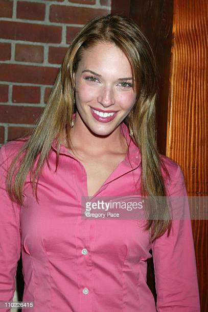 Amanda Righetti during 2005/2006 FOX Prime Time UpFront Inside Green Room and Party at Seppi's Restaurant and Central Park Boathouse in New York City...