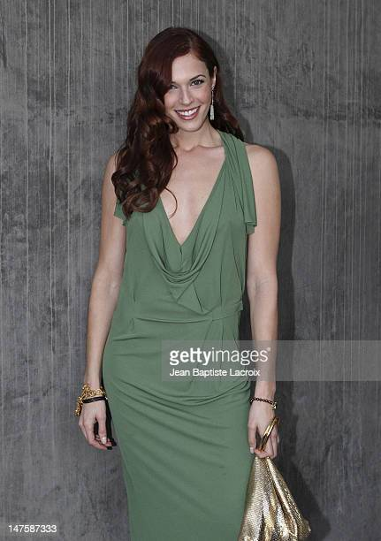 Amanda Righetti is seen in Beverly Hills on January 14 2010 in Los Angeles California