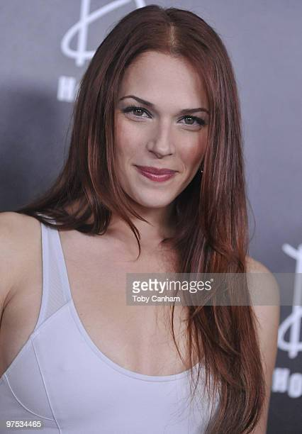 Amanda Righetti poses for a picture at the E Oscar Viewing and After Party at Drai's Hollywood on March 7 2010 in Hollywood California