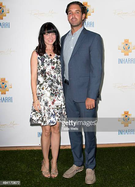 Amanda Riley abnd Gaston Richmond arrive at An Evening With Inkarri on October 24 2015 in Beverly Hills California