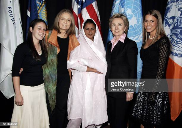Amanda Rosen Gloria Steinem Mukhtar Mai Senator Hillary Rodham Clinton and Jordana Alter Confino Cofounder of Girls Learn International