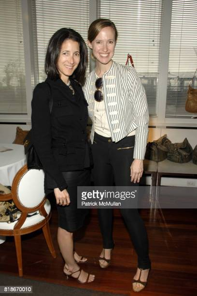 Amanda Ross and Cindi Cook attend CORALIE CHARRIOL LUNCHEON TO PREVIEW HER NEW HANDBAG COLLECTION CLILI at Hudson Hotel on June 9 2010 in New York...