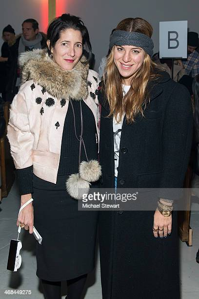 Amanda Ross and Dani Stahl attend the Thom Browne Women's show during MercedesBenz Fashion Week Fall 2014 at Center 548 on February 10 2014 in New...
