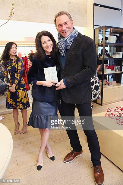 Amanda Ross and Hal Rubenstein attend the William Norwich book signing of the new novel 'My Mrs Brown' at Oscar de la Renta Boutique on April 14 2016...