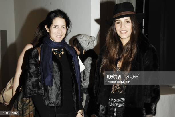 Amanda Ross and Margherita Missoni attend LA PERLA Fall 2010 Presentation at Lehmann Maupin Gallery on February 11 2010 in New York City