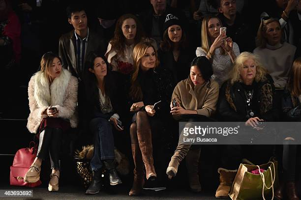 Amanda Ross and Mary Alice Stephenson attend the Naeem Khan fashion show during MercedesBenz Fashion Week Fall 2015 Theatre at Lincoln Center on...