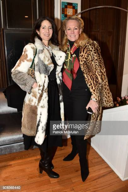 Amanda Ross and Muffie Potter Aston attend the Ati Sedgwick Private Preview at The VFGI Townhouse Gallery on March 6 2018 in New York City