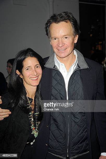 Amanda Ross and Zack Bacon attend HANLEY MELLON Fall/Winter 2015 Collection Presentation at Hudson Mercantile on February 12 2015 in New York City