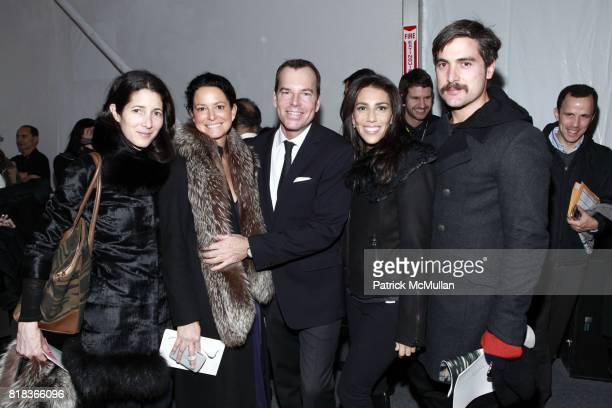 Amanda Ross Ann Marie Wilson Scott Currie Rory Tahari and Douglas Friedman attend ELIE TAHARI Fall 2010 collection at Bryant Park Tents on February...