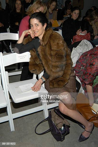 Amanda Ross attends Behnaz Sarafpour Fall 2005 Fashion Show at Splashlight Studios on February 9 2005 in New York City