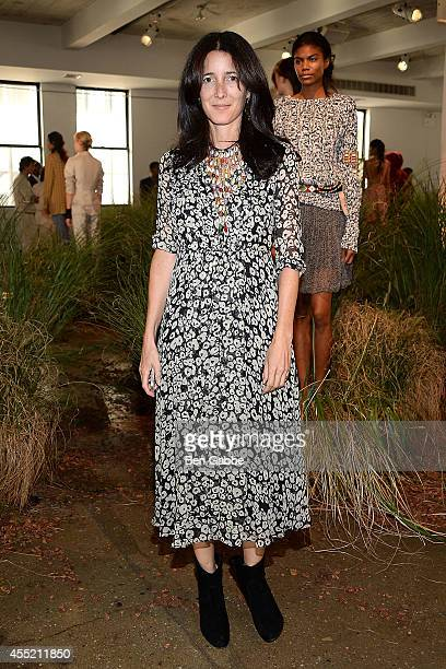 Amanda Ross attends the Hanley Mellon Fashion Presentation during MercedesBenz Fashion Week Spring 2015 at Hudson Mercantile on September 10 2014 in...