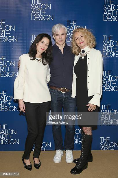 Amanda Ross Tom Delavan and Anne Dexter Jones attend The Salon Art Design Vernissage Party at the Park Avenue Armory on November 12 2015 in New York...