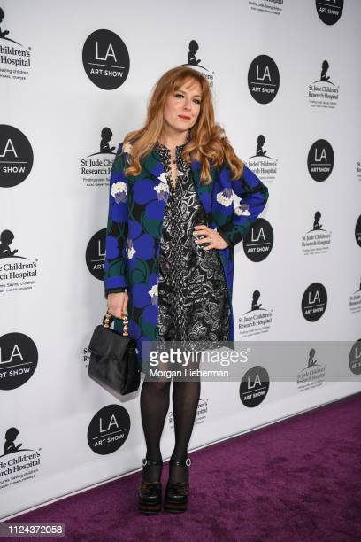 Amanda Rowan arrives at the LA Art Show 2019 Opening Night Gala at the Los Angeles Convention Center on January 23 2019 in Los Angeles California