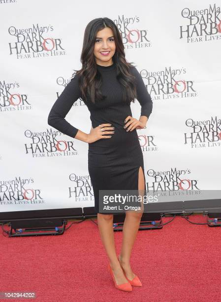 Amanda Salas arrives for The Queen Mary's Dark Harbor Media And VIP Night held at The Queen Mary on September 28 2018 in Long Beach California