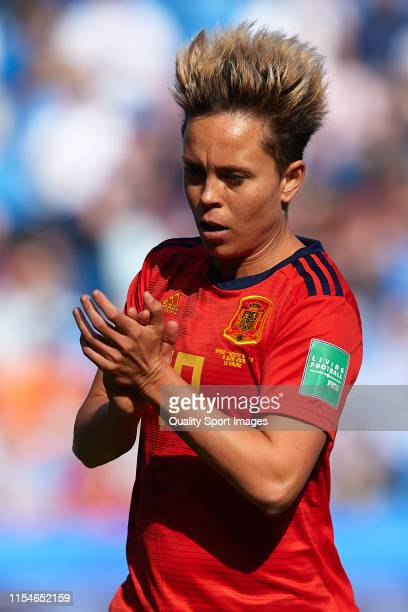 Amanda Sampedro Bustos of Spain looks on during the 2019 FIFA Women's World Cup France group B match between Spain and South Africa at Stade Oceane...