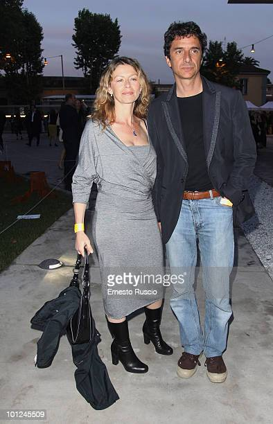 Amanda Sandrelli and Blas Roca Rey attend the MAXXI opening party on May 28 2010 in Rome Italy