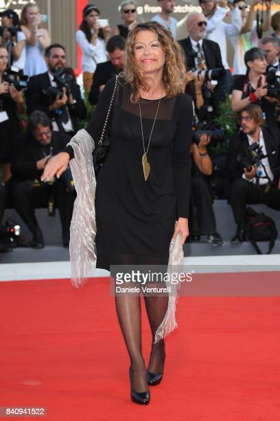 Amanda Sandrelli walks the red carpet ahead of the 'Downsizing' screening and Opening Ceremony during the 74th Venice Film Festival at Sala Grande on...
