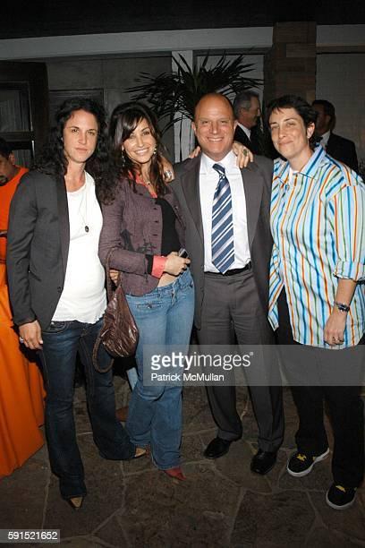 Amanda ScheerDemme Gina Gershon Chris Albrecht and Carolyn Strauss attend HBO's series ENTOURAGE Poolside Party at Amanda Scheer Demme's Tropicana...