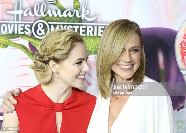 Amanda Schull and Nikki DeLoach arrive to the Hallmark Channel and Hallmark Movies and Mysteries Winter 2018 TCA Press Tour held at Tournament House...