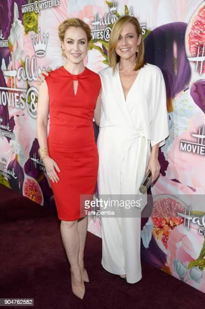 Amanda Schull and Nikki DeLoach attend Hallmark Channel and Hallmark Movies and Mysteries Winter 2018 TCA Press Tour at Tournament House on January...